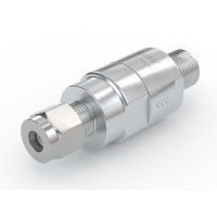 """WEH® Check Valve TVR1 CNG for installation in fueling stations, with male thread NPT 1/4"""" and tube Ø 1/4"""", 3,600 psi"""
