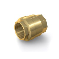 "Check Valve TVR61 with internal thread G2"" on both sides, DN 50 mm, brass"