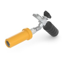 WEH® Fueling Nozzle TK10 CNG for fast filling of cars (NGV1), with gas recirculation, grip position 45°, 3600 psi