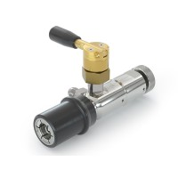 WEH® Service Nozzle TK6 CNG for discharging of cars through the filling receptacle, with venting valve