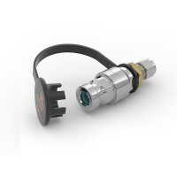 "WEH® Receptacle TN1 H₂ for refueling of cars, with tube Ø 3/8"", filter 50 micron, 3,600 psi"