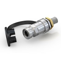 "WEH® Receptacle TN1 H₂ 70 MPa for refueling of cars (EC79), with male thread UNF 9/16""-18"
