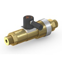 WEH® Shut-off Valve TV17GE for inert gases, manual actuation, with automatic venting, DN12, 420 bar