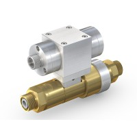 WEH® Shut-off Valve TV17GER for inert gases, pneumatical actuation, Block & Bleed, DN12, NC, 420 bar
