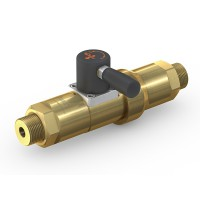 WEH® Shut-off Valve TV17GO for inert gases, manual actuation, DN12, 420 bar