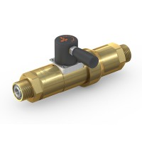 WEH® Shut-off Valve TV17GR for inert gases, manual actuation, with check valve, DN12, 420 bar