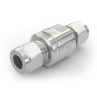 "WEH® Check Valve TVR1 H₂ for installation in cars (EC79), with tube Ø 3/8"" on both sides, 5,000 psi"