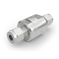 "WEH® Check Valve TVR1 H₂ for installation in cars (EC79), with tube Ø 1/4"" on both sides, 5,000 psi"