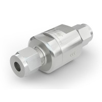 WEH® Check Valve TVR1 H₂ for installation in cars (EC79), with tube Ø 6 on both sides, 5,000 psi