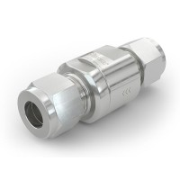 WEH® Check Valve TVR1 H₂ for installation in cars (EC79), with tube Ø 10 on both sides, 5,000 psi