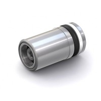 """WEH® Cartridge Check Valve TVR2, Inlet UNF 1/4""""-28 female thread, Outlet Ø 8 mm, stainless steel 1.4305, FFKM, DN 4 mm"""