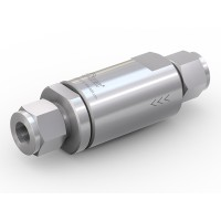 WEH® Check Valve TVR2 with tube Ø 12 on both sides, DN 10 mm, stainless steel, cone seal