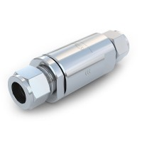 WEH® Check Valve TVR5 CNG for fueling stations, with tube Ø 12 on both sides, 3,600 psi