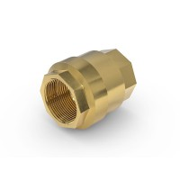 "Check Valve TVR61-S1-A02 with female thread G2"" on both sides, DN 50 mm, brass"
