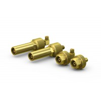 WEH® Connector TW67 for filling of gas cylinders with male thread, connection by hand-tightening, max. 3,600 psi / max. 5,440 psi
