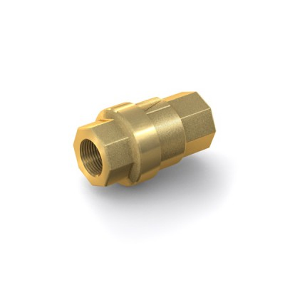 "Check Valve TVR61 with internal thread G1/4"" on both sides, DN 10 mm, brass"