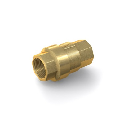 "Check Valve TVR61 with internal thread G3/8"" on both sides, DN 10 mm, brass"