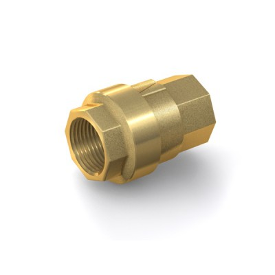 "Check Valve TVR61 with internal thread G1/2"" on both sides, DN 15 mm, brass"