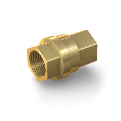 "Check Valve TVR61 with internal thread G3/4"" on both sides, DN 20 mm, brass"