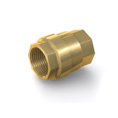 "Check Valve TVR61 with internal thread G1 1/4"" on both sides, DN 32 mm, brass"
