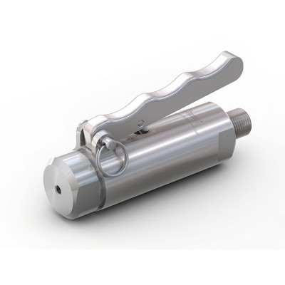 """WEH® Connector TW141 for straight tubes, tube OD 7.9 mm (5/16""""), lever actuation, vacuum up to max. 1,450 psi"""