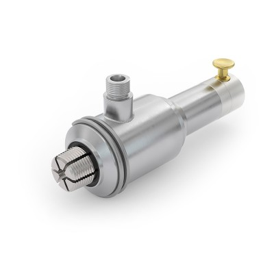 "WEH® Connector TW17 Gas, for testing of gas cylinders with water, pneumatical actuation via valve button, W28.8x1/14"" male thread, max. 5,000 psi"