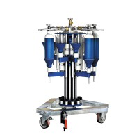 WEH® Filling Rig TS200 / TS250 radial, rotating filling rig for gas cylinders of varying sizes up to 10 l nominal volume