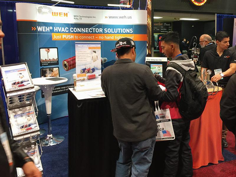Refrigerant filling made easy – WEH at the AHR 2017 in Las Vegas